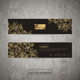 Luxurious floral banner template set design Stock Image