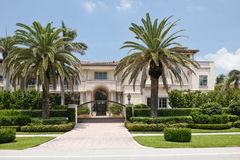 Luxurious Florida mansion Royalty Free Stock Photography