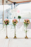 Luxurious flower of flowers on table Stock Photo