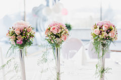 Luxurious flower of flowers on table Stock Photos