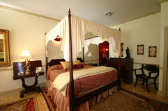 Luxurious four poster bed Royalty Free Stock Photography