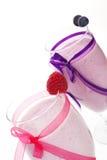 Luxurious fruit milkshake background. Royalty Free Stock Photography