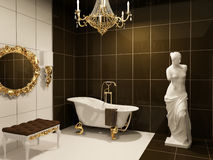 Luxurious furniture in baroque bathroom Stock Photos