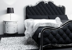 Luxurious furniture in bedroom interior. Stock Images
