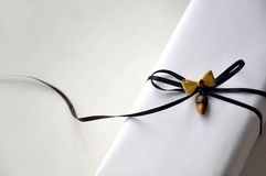 Luxurious Gift Box with ribbon Royalty Free Stock Image