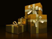 Luxurious gift boxes Stock Photography