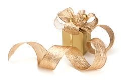 Luxurious gift isolated on white background Stock Images