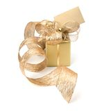 Luxurious gift with note Royalty Free Stock Photo