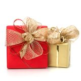 Luxurious gifts isolated on white background Stock Images