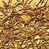 Luxurious gold satin background close up Royalty Free Stock Images