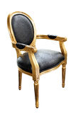 Luxurious golden chair Stock Image