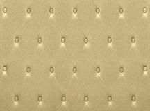 Luxurious golden leather  seat upholstery Stock Image