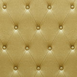 Luxurious golden leather  seat upholstery Stock Photography