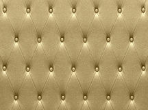 Luxurious golden leather  seat upholstery Stock Images