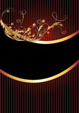 Luxurious golden ornament Royalty Free Stock Image