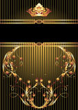 Luxurious golden ornament and crown Stock Photo