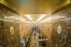 Luxurious granite marble interior of a building hallway Royalty Free Stock Photos