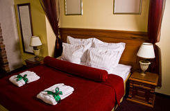 Luxurious guest room. A luxurious guest room at a hotel or resort Stock Image