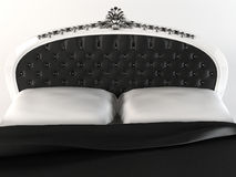 Luxurious  headboard with decorative frame. Royalty Free Stock Photos