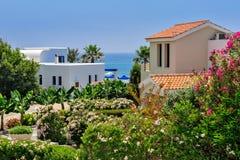 Luxurious holiday beach villas Stock Photo