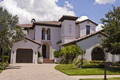 Luxurious Home. Beautiful luxury home with Spanish styling royalty free stock image