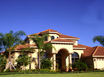 Luxurious home in tropics royalty free stock photography