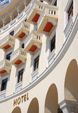 Luxurious hotel balconies stock images