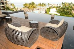 Luxurious hotel balcony Stock Photography