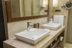 Luxurious hotel bathroom Royalty Free Stock Image