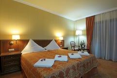 Luxurious hotel bedroom Stock Photo