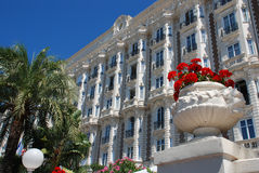 Luxurious hotel in Cannes stock photos
