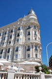 Luxurious hotel on the croisette in Cannes Royalty Free Stock Photography
