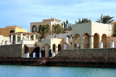 Luxurious hotel in El Gouna, Egypt. Stock Photo