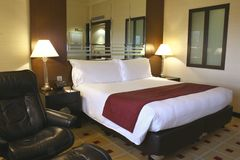 Luxurious hotel guest room, Singapore Stock Image