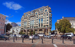 Luxurious Hotel Intercontinental in the most visited part of the city, Kyiv, Ukraine Royalty Free Stock Photo