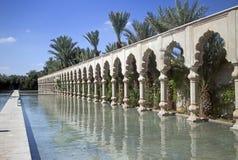 Luxurious hotel. Morocco luxurious hotel and garden Stock Photos