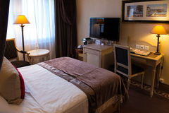 Luxurious hotel room Stock Photos