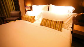 Luxurious hotel room stock footage