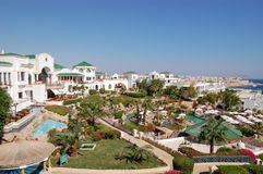 Luxurious hotel in Sharm el Sheikh, Egypt. Luxurious popular hotel in Sharm el Sheikh, Egypt Royalty Free Stock Photos