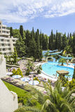Luxurious hotel swimming pool Royalty Free Stock Images
