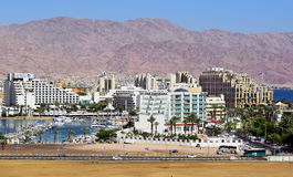 Luxurious hotels in popular resort - Eilat Stock Images
