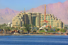 Luxurious hotels in popular resort - Eilat, Israel Stock Images