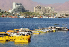Luxurious hotels in popular resort - Eilat, Israel Royalty Free Stock Photography