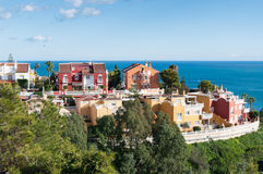 Luxurious houses in Malaga, Spain Royalty Free Stock Photo