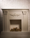 Luxurious interior with decorative fireplace Stock Photography