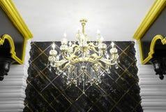 Luxurious interior details. Chandelier details stock photography
