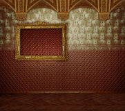 Luxurious  interior with gold in a vintage style Stock Photo