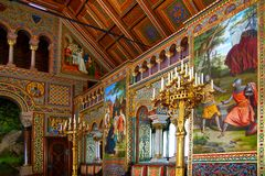 Luxurious interior of the Neuschwanstein Castle. stock photos