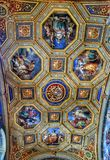 Luxurious interior of one of the rooms of the Vatican museum Royalty Free Stock Image