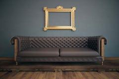Luxurious interior with see-through frame Royalty Free Stock Photos